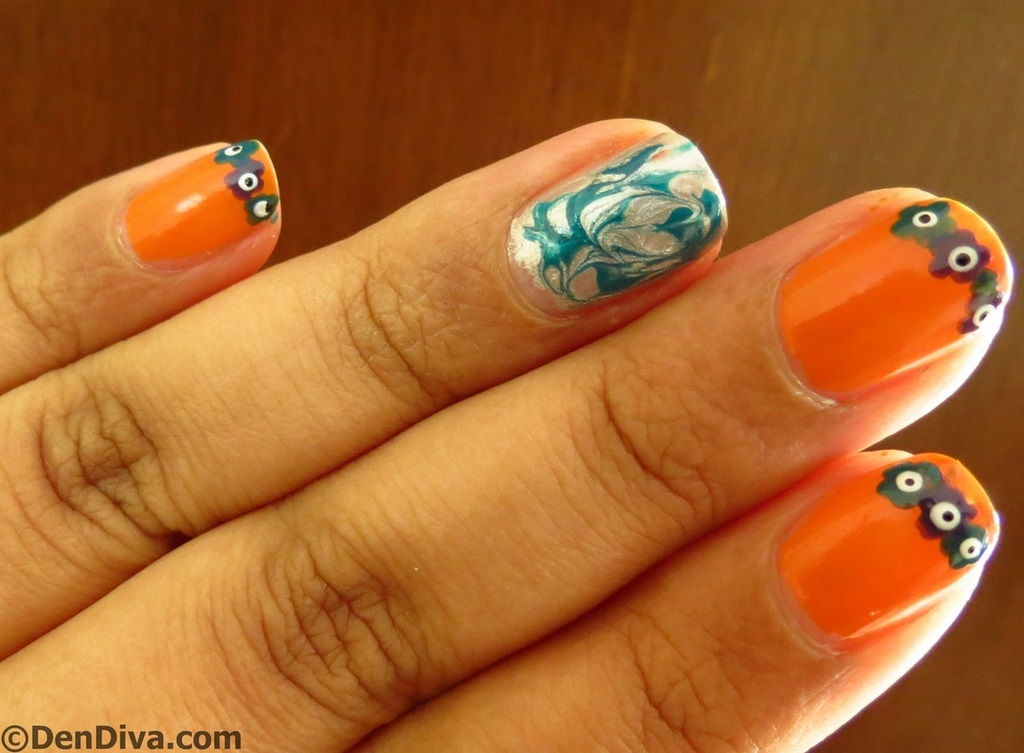 Tricolor inspired nail art