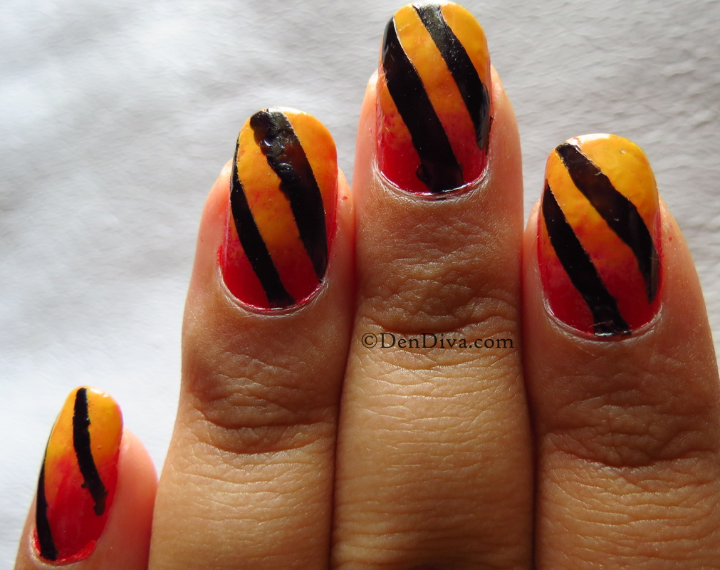 Sunset inspired nails