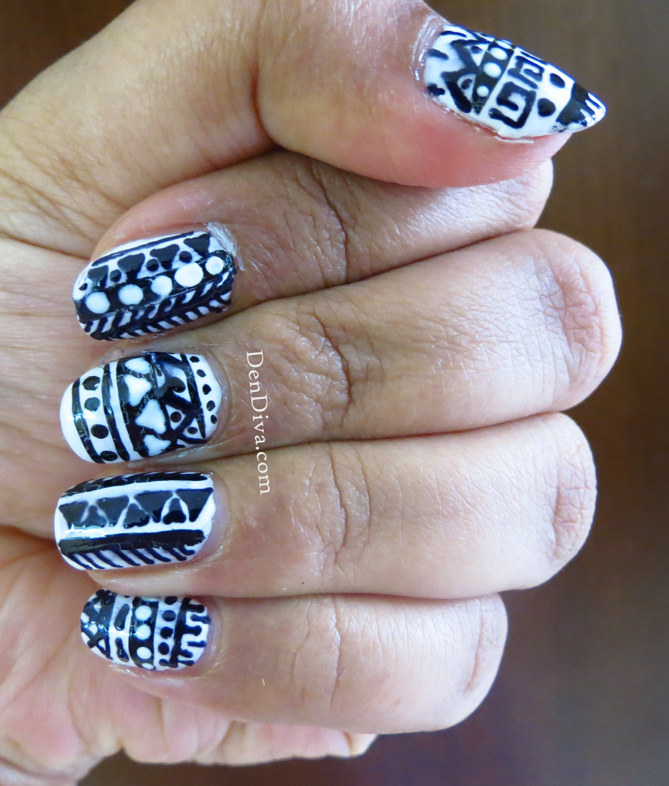 Tribal/Aztec Nail art Tutorial – DenDiva