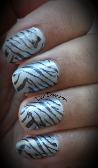 Zebra Nails - Steps how to do this nail art