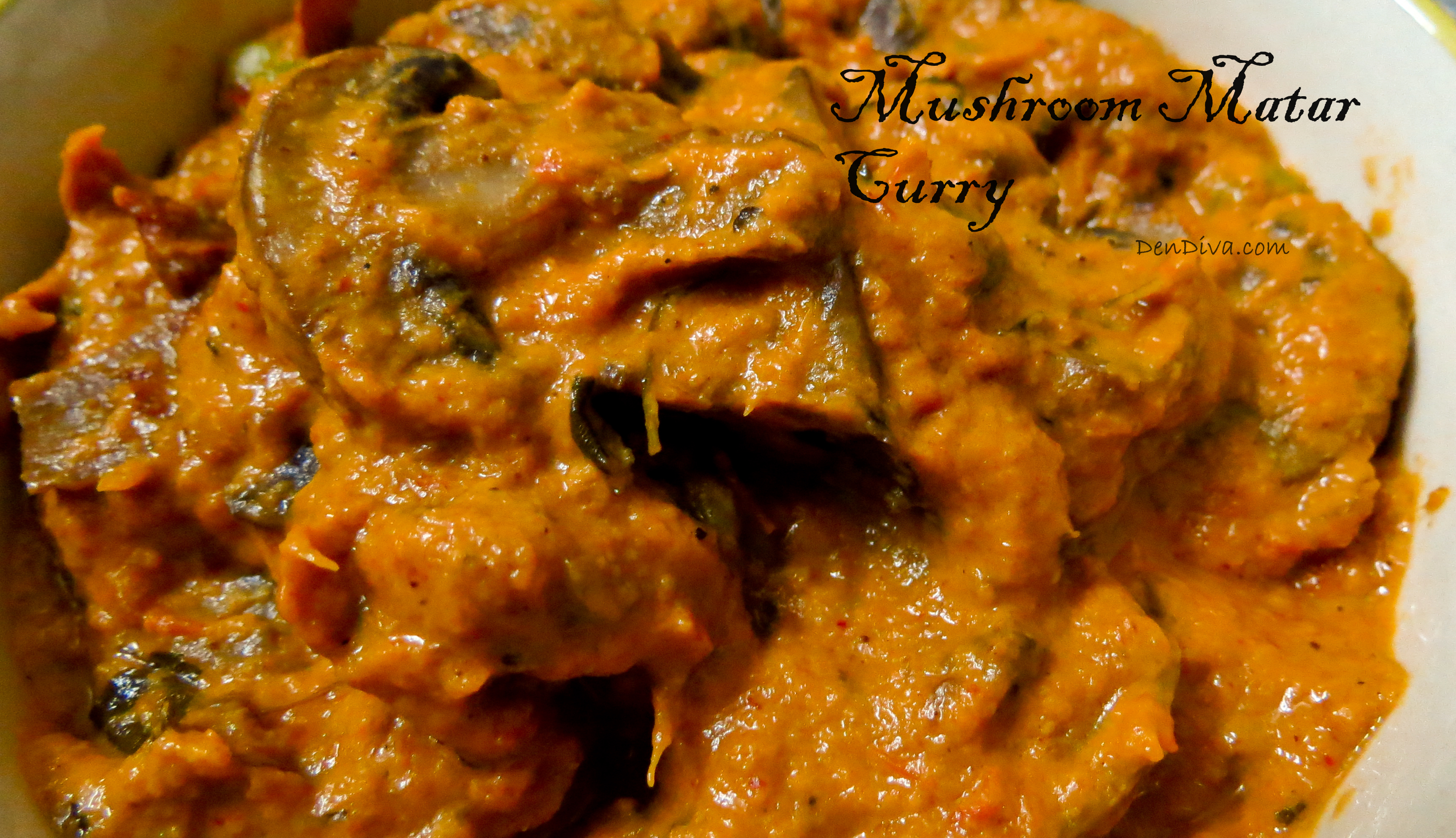 Mushroom Matar Curry Recipe