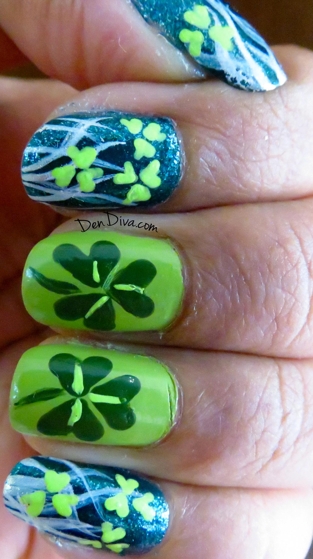 St.Patrick's Day Special : Shamrock Nail Art
