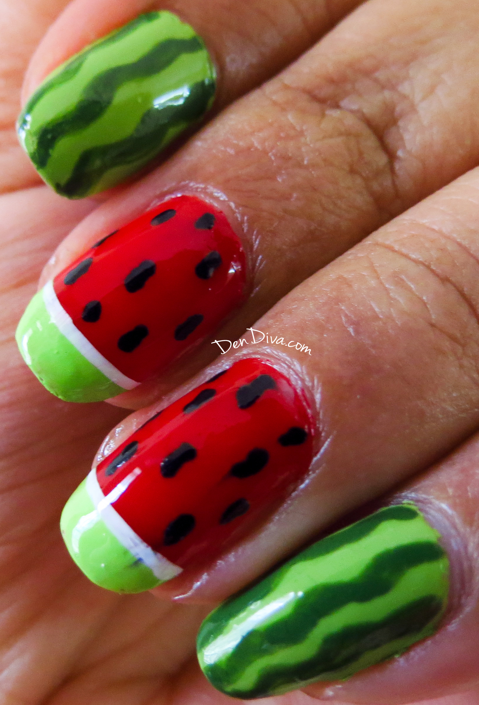 WaterMelon Nail Art Tutorial (Step by Step with pics) – DenDiva