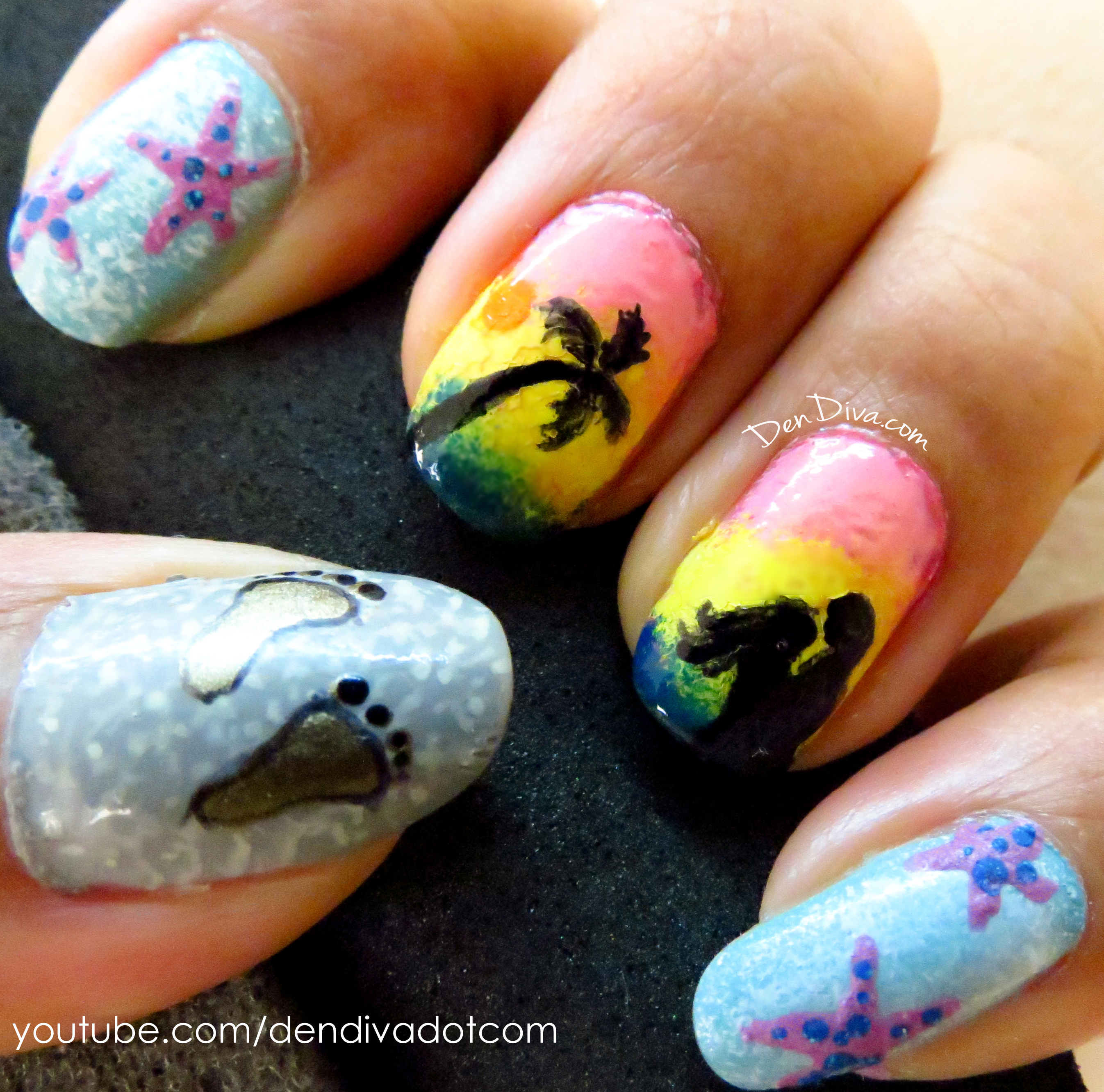 Sunset Nails Tutorial
