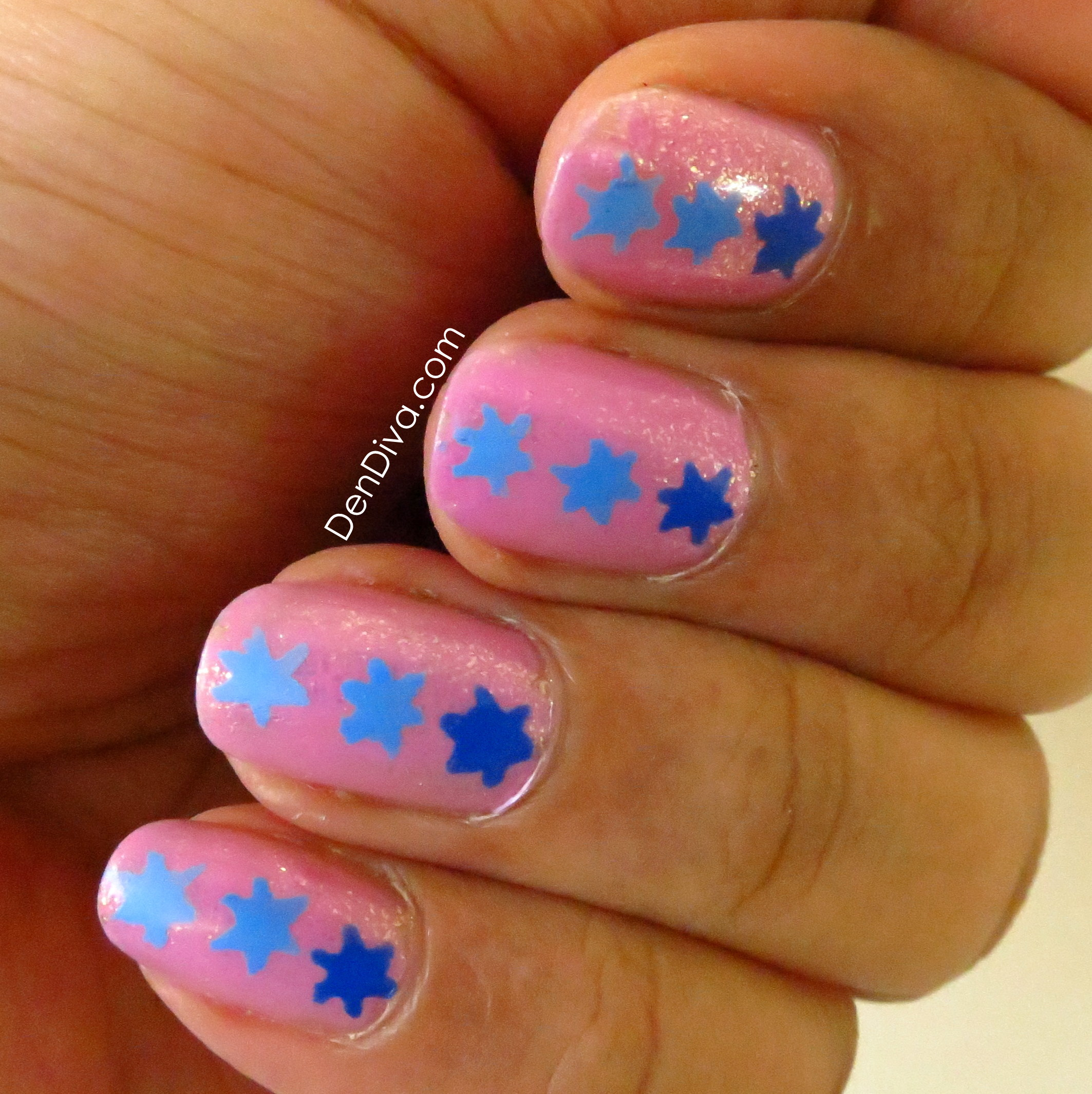 Easy nail art for beginners - Gradient Star Nails