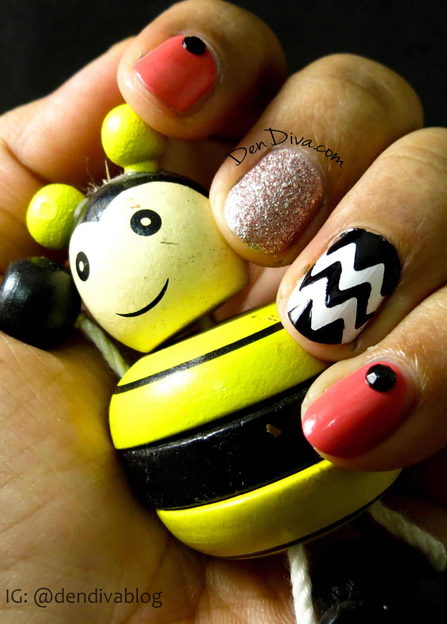 Chevron Mix n Match Nails Tutorial