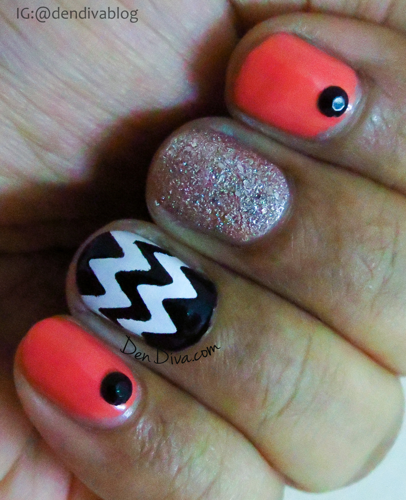 Chevron Mix n Match Nails Tutorial