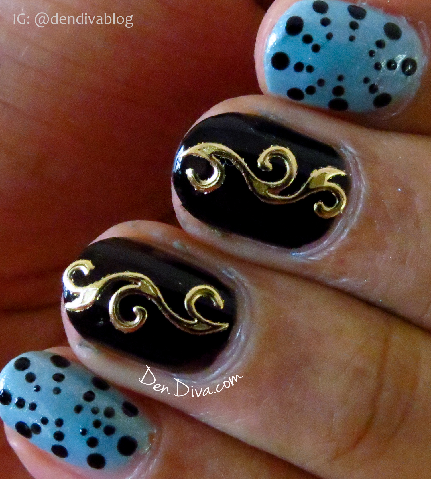 3D embossed sticker Nail Art Tutorial