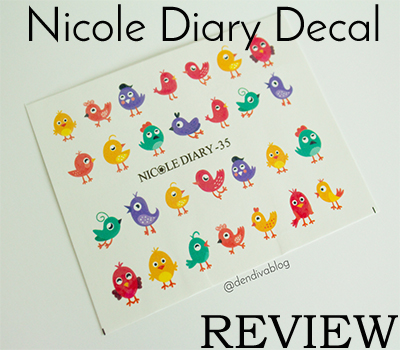 Review Nicole Diary Decals Cute Bird Nail Art Dendiva