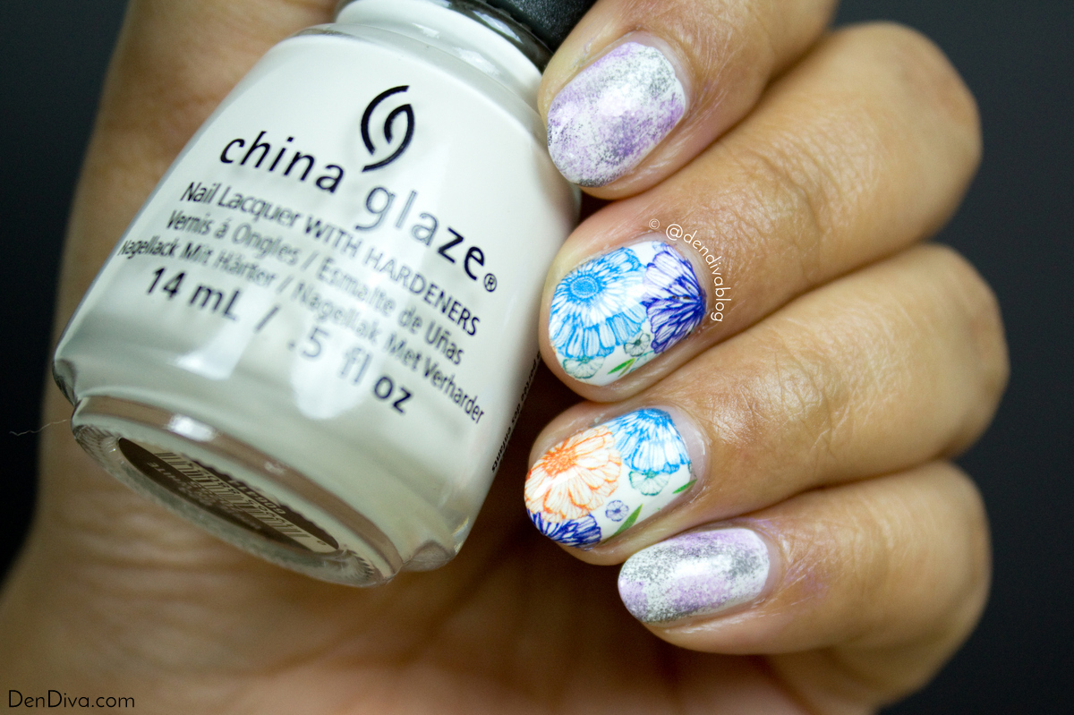 Easy Floral Nail Art using Nicole Diary Nail Decals – DenDiva