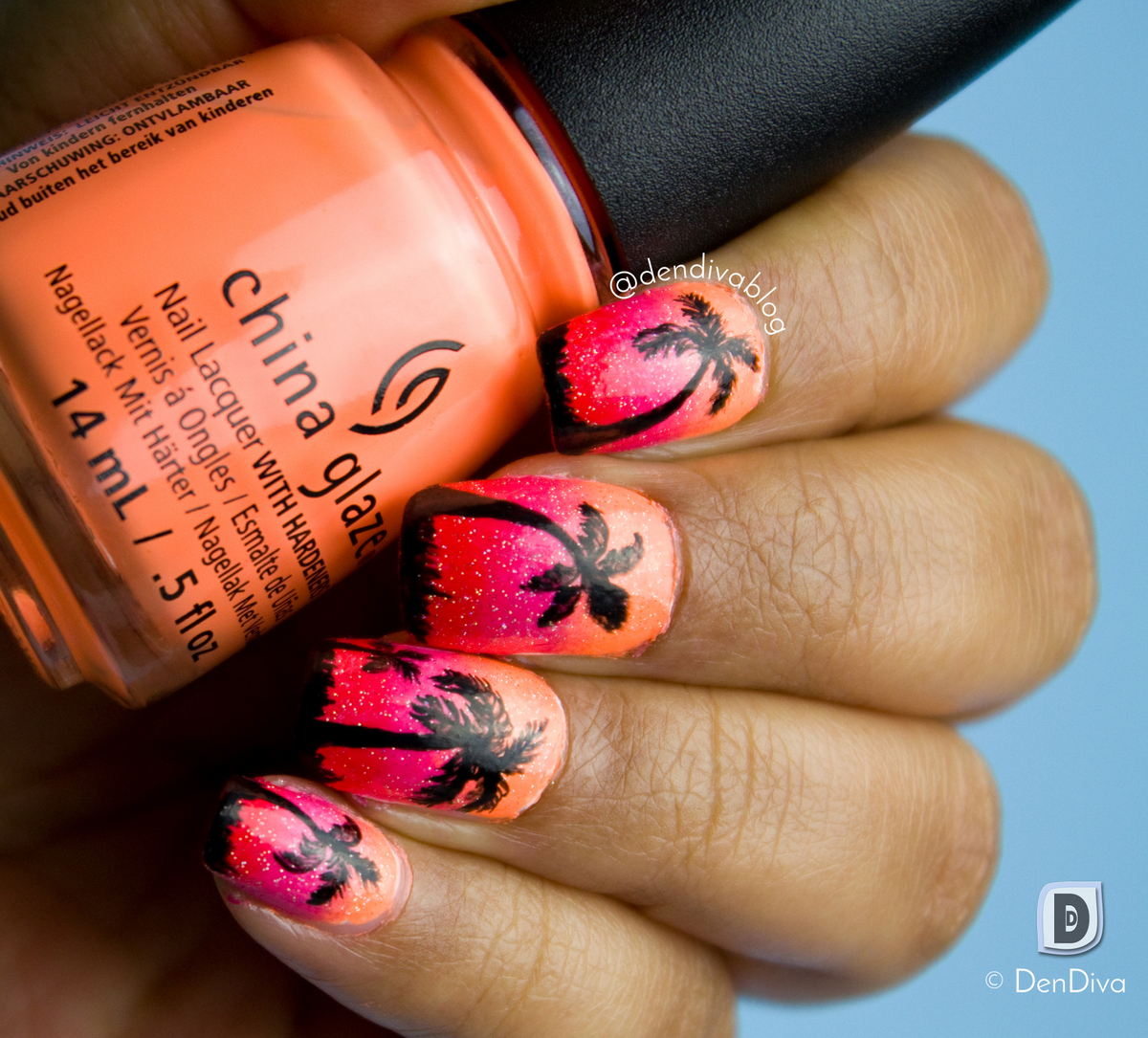 I have posted a video tutorial of this in my Instagram, if you want to  check it. I just love how magical sunset nails can look.. its perfect for  Summer!! - Sunset Nail Art Tutorial – DenDiva