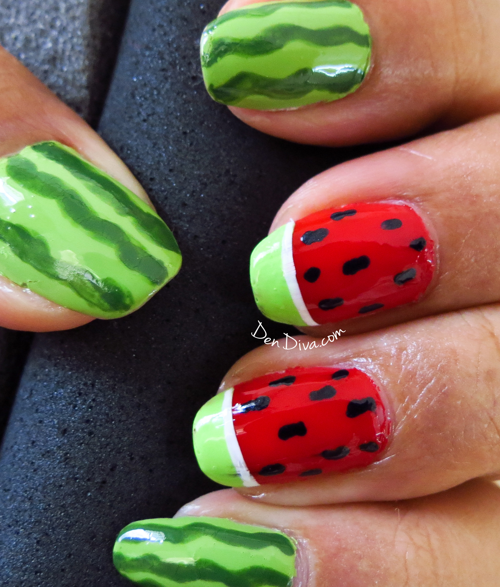 Pictures Of Watermelon Nail Designs